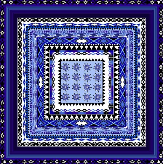 419Royal Blue Black